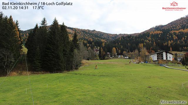 Webcam Golfplatz Bad Kleinkirchheim